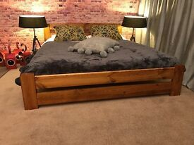 Solid Pine Wooden Bed Frame
