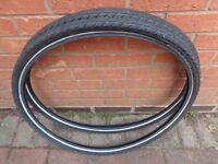 Pair Black Schwalbe Silento Bike Tyres 28 x 1.75 (47-622) Used Once