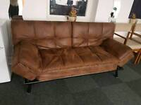 Brand New 100% tan/suede Sofa Bed