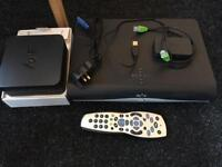 Sky + HD box plus remote and router