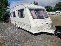 Elddis Typhoon 4 berth family touring caravan and Awning 1997