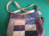 LORENZ WOMEN'S LADIES PATCHWORK LEATHER HANDBAG SHOULDER BAG LORENZ LIGHTWEIGHT