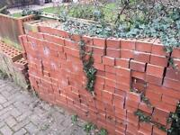 Weathered Red building bricks in Notts area around 1000 - unwanted, cheap