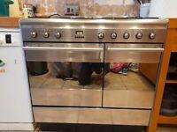 Smeg double range oven with 5 gas burner hob