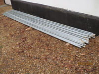 Galvanised Electrical Conduit, 25mm, about 123 metres + Couplings. New & unused