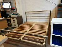 Metal king-size bed frame with deluxe orthopaedic mattress (brand new)
