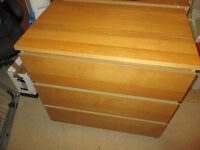 Ikea Malm 3 drawer chest