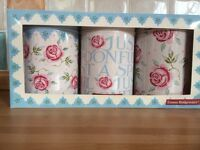 Emma Bridgewater 3 tea coffe and sugar canisters floral