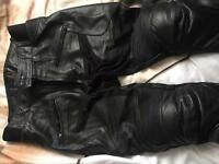Genuine bike leathers.