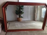 LARGE OVER MANTLE WALL MIRROR
