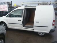Volkswagen CADDY TDI 104,Panel Van,FSH,roof rack,tow bar,bulkhead,side loading door,ply lined