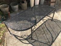 Small vintage metal garden bench