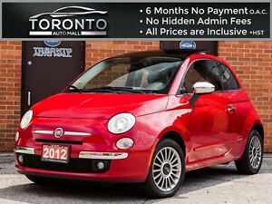 2012 Fiat 500 Lounge+Bose+Leather+Sunroof+Bluetooth