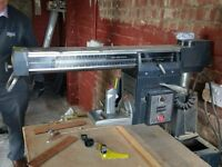 "Shopmate 10"" Radial Arm Saw bench mounted."