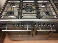 Hoover stainless steel gas cooker