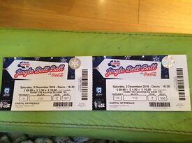 Jingle Bell Ball concert Tickets x 2