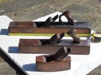 Three Vintage Wooden Block Planes