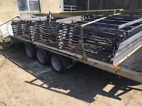 Metal estate fencing