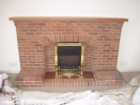 Dismantled Vintage Brick Fireplace Bricks-(Pile of bricks) Photo for colour only