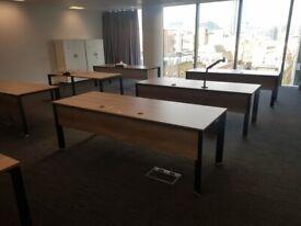 10 Large walnut office/home office/workstation table/desks