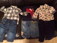 Baby Boys Clothes 6-9 mths