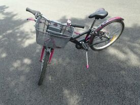 "Girls B'Twin 24"" Bicycle"