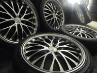 "18"" genuine bk deep dish bbs alloys wheels audi a4 a6 a8 a3 5x112 golf vw caddy t4 t3 transporte"