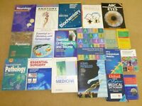 MEDICAL TEXT BOOKS BUNDLE OF 18 OLDER MEDICAL TEXT BOOKS. GOOD CONDITION DETAILS BELOW