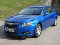 CHEVROLET CRUZE 1.6 LT 5d AUTO 124 BHP PARKING AID + FULL YEAR MOT + 2 PREVIOUS KEEPERS +