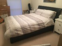 Barely used king size bed & mattress