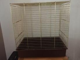 Metal bird cage.