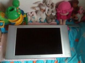 26 inch tv for sale and wall bracket attached