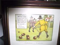 Framed golf pictures