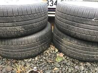 "235 55 17 HANKOOK tyres from FORD MONDEO with ALLOYS 8mm 17"" GREAT TYRES 4 of them SET"