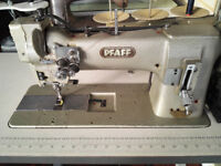 PFAFF 120-6/2B-S, 2-Needle, Flip-Up Lockstitch Reverse Industrial Sewing Machine