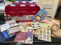 Selection of scrap booking/card making materials