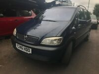 vauxhall zafira 2001 2.0 diesel blue breaking for spares - wheel nut