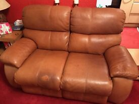 Italian Leather 2 Seater Electric Recliner Sofa