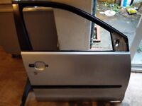 Vw polo driver side silver door 01-09
