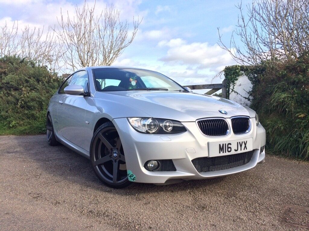 bmw e92 325i msport 3 series coupe silver huge spec superb condition fsh 320 330 335 in truro. Black Bedroom Furniture Sets. Home Design Ideas