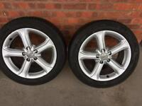 4 X ALLOY WHEELS AUDI A4 SIZE 225/50R 17 94Y 5X112 IN EXCELLENT CONDITION ONL