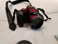 Nikon Coolpix P520 Red and Extras