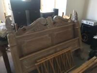 Beautiful hand carved double bed
