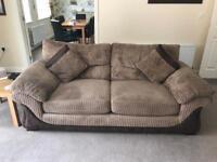 2x 3 seater sofas