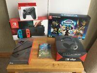 Nintendo Switch: Neon Red/Blue Joy-con console – Complete Bundle!