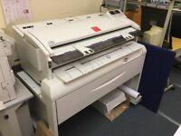 Large format A0 and smaller copier for drawings. Black toner only.