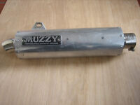 Muzzy race exhaust can.