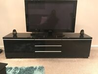 IKEA Black High Gloss TV Cabinet
