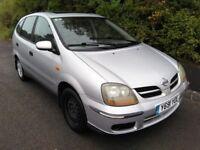 Nissan Almera Tino 1.8 petrol, MOT, recent clutch, tow bar / towbar - £400 or offers