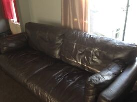 Large 2 seater leather couch